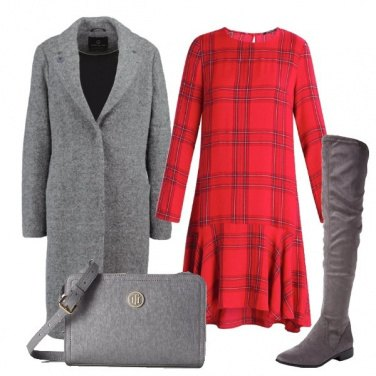 Outfit Quadri e grigio
