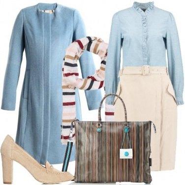 Outfit Colori pastello e righe colorate
