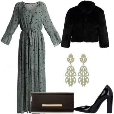 Outfit Abito color salvia