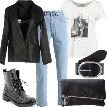 Outfit lo stile maschile di Winona Ryder