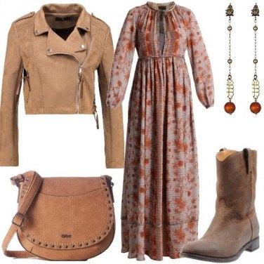 Outfit Abito lungo fantasia floreale