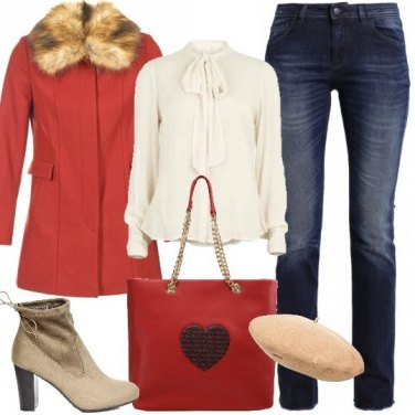 Outfit Romantica in rosso