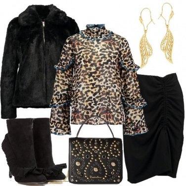 Outfit La camicetta maculata