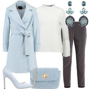 Outfit Grigio e azzurro