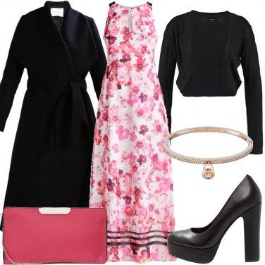 Outfit Abito floreale nel periodo freddo