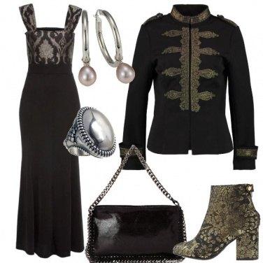 Outfit Broccato e ghirigori