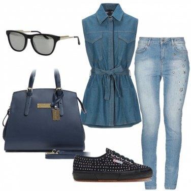Outfit con la Camicia di Jeans: 85 Donna da Provare | Bantoa