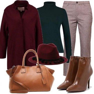 Outfit Cappotto borgogna