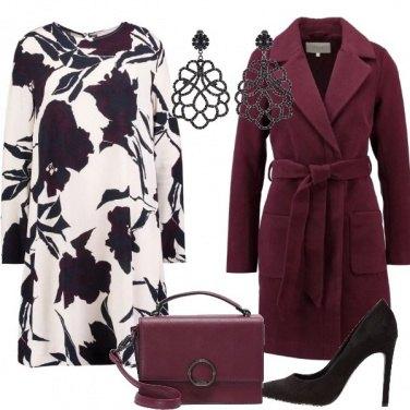 Outfit Il color borgogna