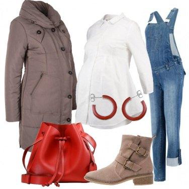 Outfit La salopette in jeans