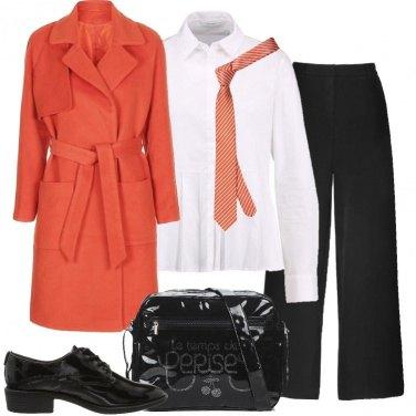 Outfit Il cappotto arancione