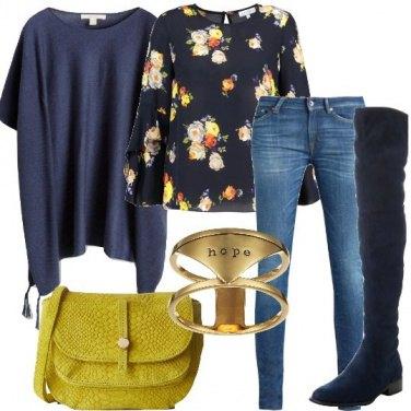 Outfit Il poncho leggero
