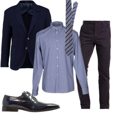 Outfit Mix and match azzurro e blu