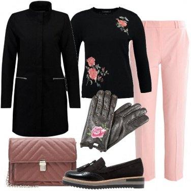 Outfit Rosa nero e fiori