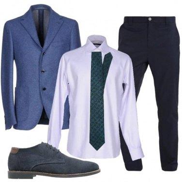 Outfit La cravatta blu