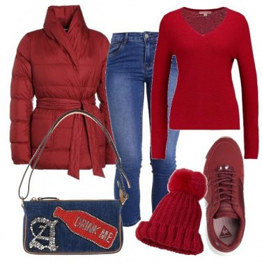 Outfit Rosso energia