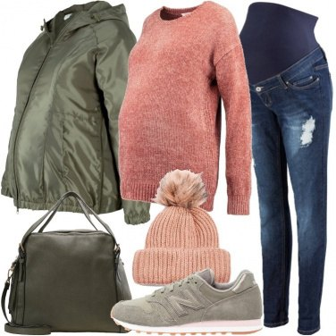 Outfit Abbina verde e rosa