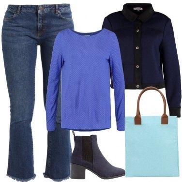 Outfit Tonalità di blu