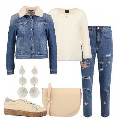 Outfit Denim e lana
