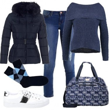 Outfit Rombi blu