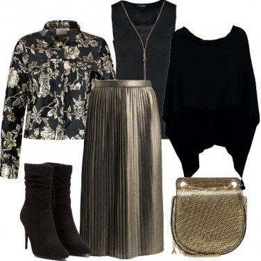 Outfit Oro plissè