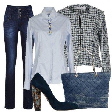 Outfit Jeans e pietre