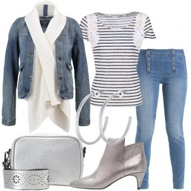 Outfit Denim e argento