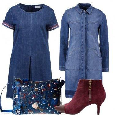 Outfit Vestito e giacca di jeans