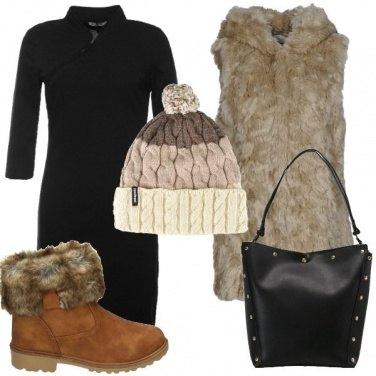Outfit Ecopelliccia e cappello