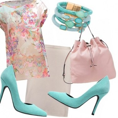 Outfit Lady in pastels..