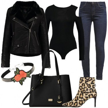 Outfit Stivaletti animalier