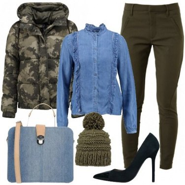 Outfit Trendy in verde