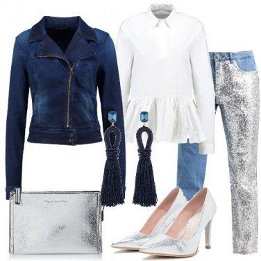 Outfit Denim e silver