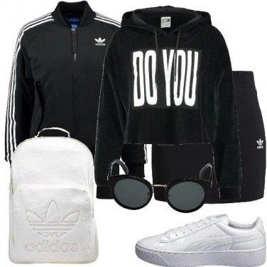 Outfit Lo zaino bianco