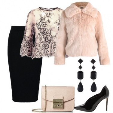 Outfit Elegante in rosa
