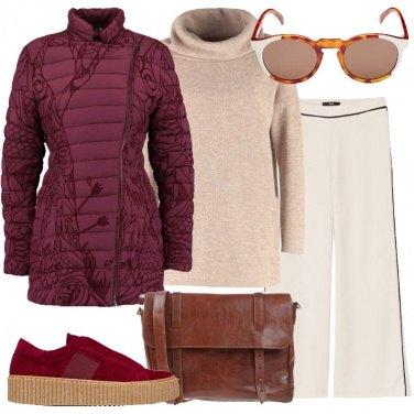 Outfit Il piumino bordeaux