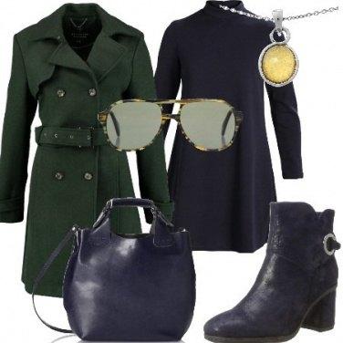 Outfit Di giorno in verde e blu