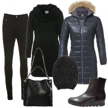 Outfit Maglione lungo e cuffietta