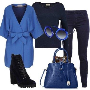 Outfit Occhiali blu