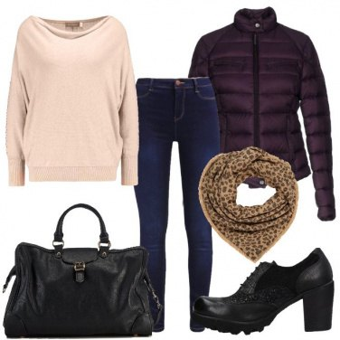 Outfit Viola ed animalier