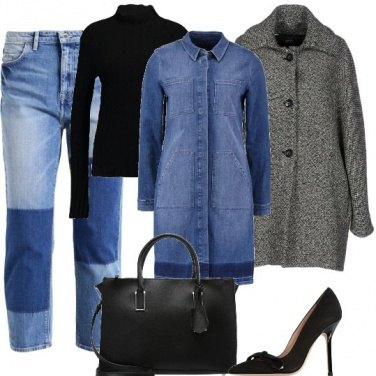 Outfit Il jeans patchwork