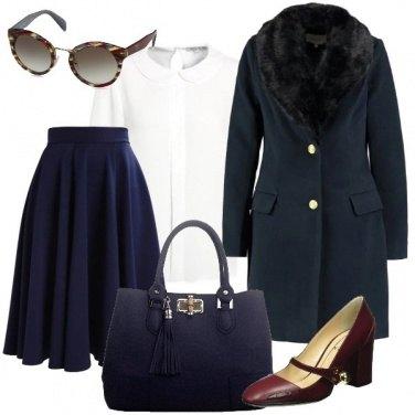 Outfit Occhiali e cappotto