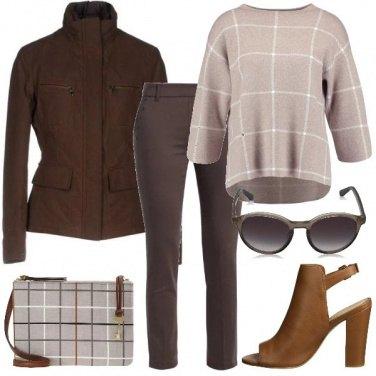 Outfit Tutti i toni del marrone