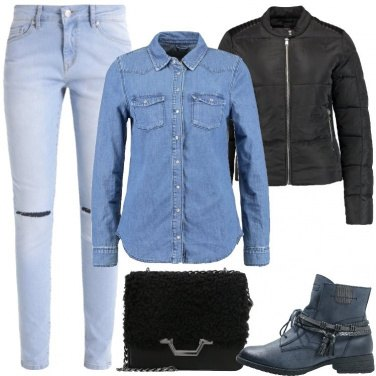 Outfit Semplice in jeans