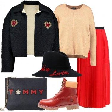 Outfit Bomber nero e cappello
