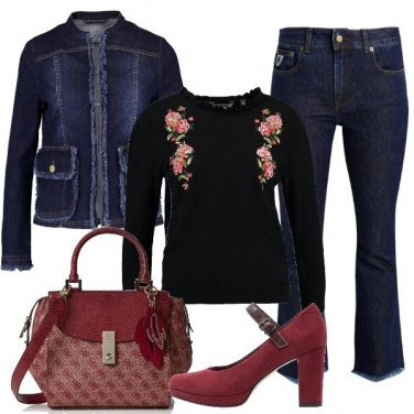 Outfit Bon ton in denim