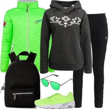 Outfit Super sportiva in verde