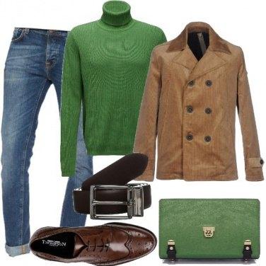 Outfit Borsa a guscio e Caban
