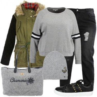 Outfit La borsa in lana cotta