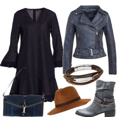Outfit Una donna in denim